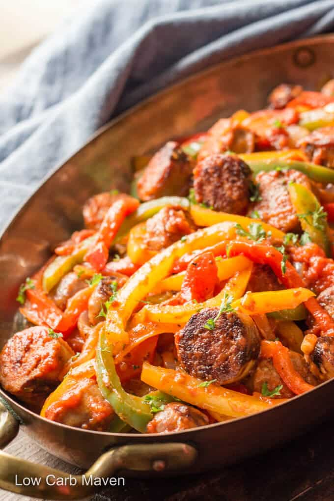 Italian Sausage, Peppers, and Onions in a pot