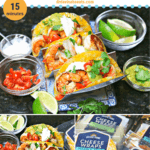pinterest image for keto shrimp tacos recipe
