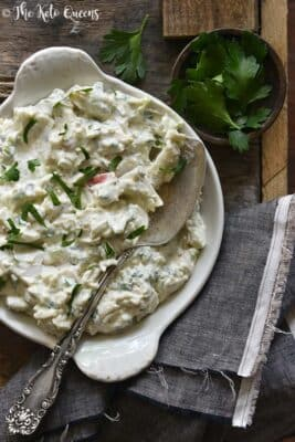 Low Carb Creamy Crab Salad in a bowl