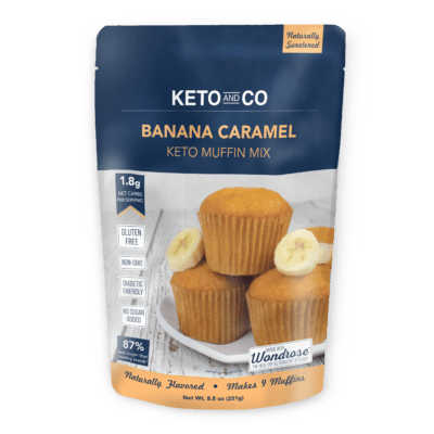 One package of Keto and Co Banana Caramel Keto Muffin Mix