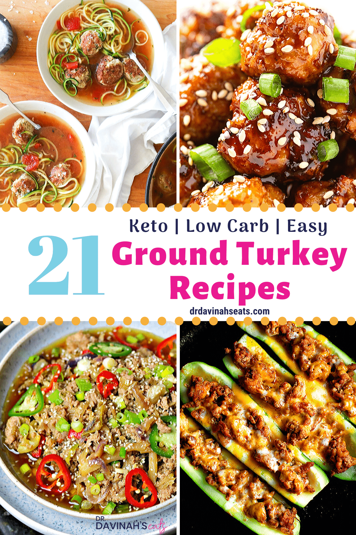 ground turkey recipes pinterest image