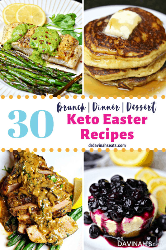 a pinterest image that says 30 Keto Easter recipes