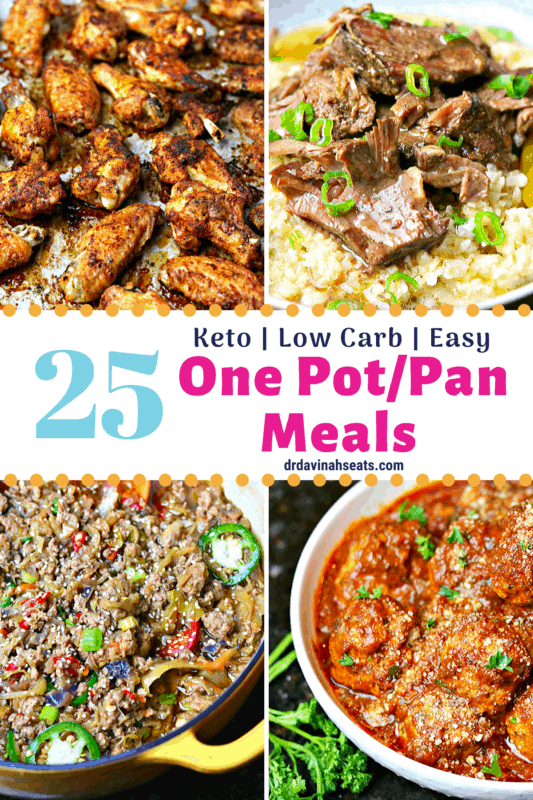 Pinterest image for keto one-pot meals