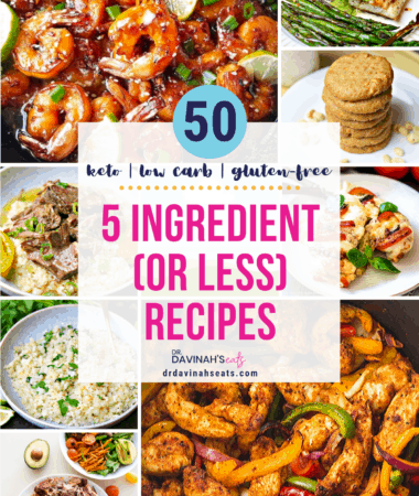pinterest image for 5 ingredient or less recipes