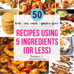 pinterest image for recipes using 5 ingredients or less