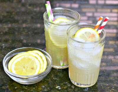 two glasses of Keto lemonade