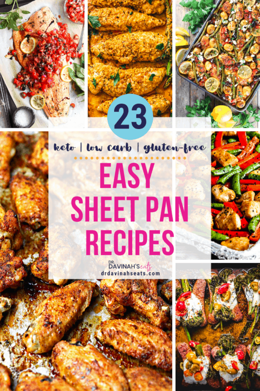 pinterest image for easy sheet pan meals