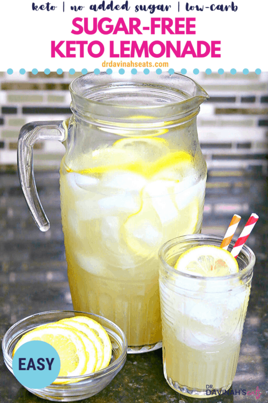 sugar-free lemonade Pinterest image
