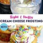 keto cream cheese frosting pinterest image
