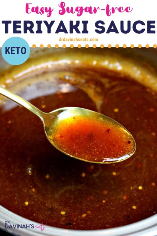 pinterest image or keto teriyaki sauce