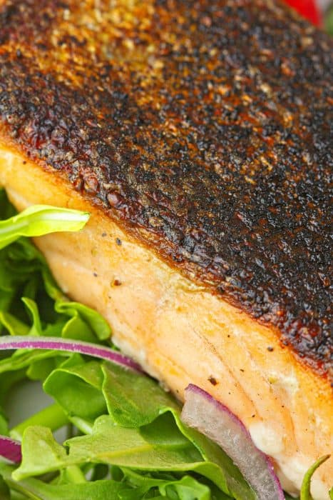 One crispy skin salmon