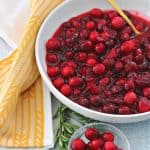 close-up of keto cranberry sauce