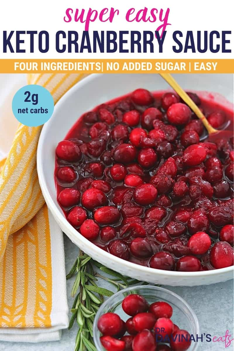 pinterest image for keto cranberry sauce