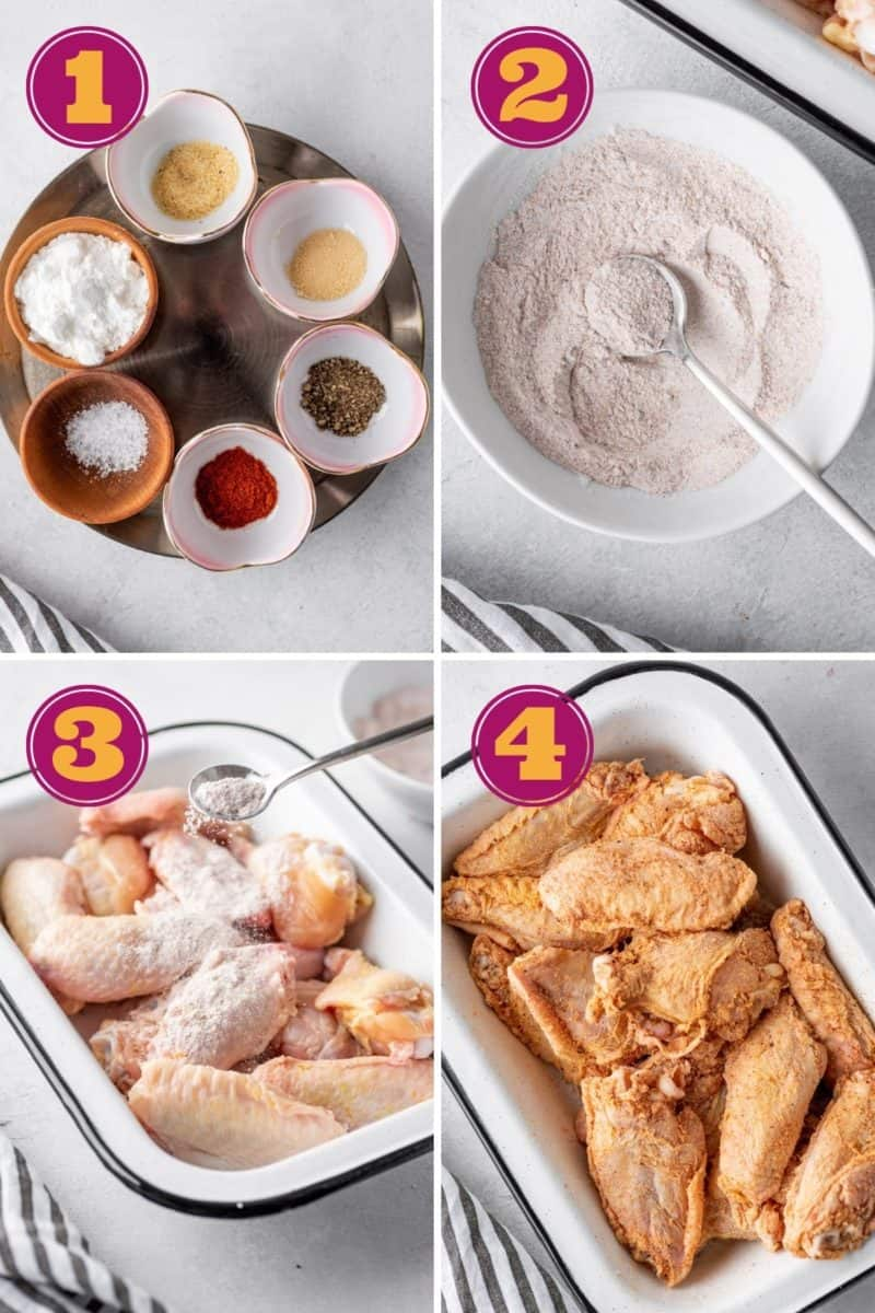 a photo tutorial for how to make fried chicken in a Ninja Foodi air fryer