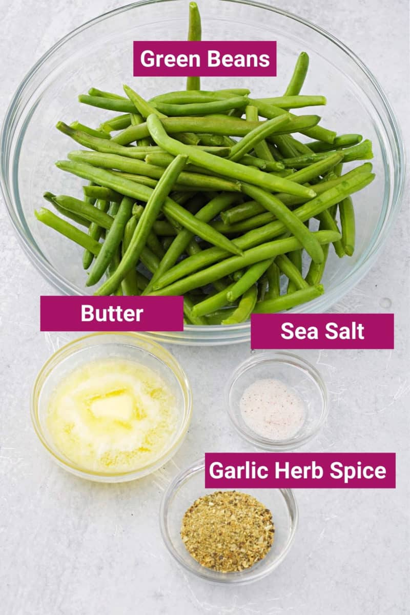 ingredients needed to make air fryer green beans