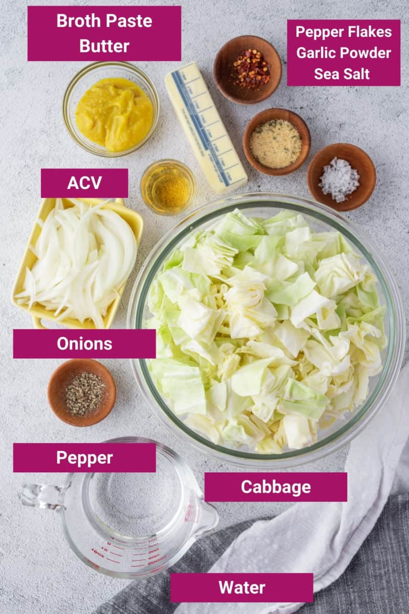 ingredients needed to make instant pot cabbage